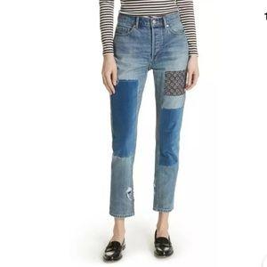 La Vie Rebecca Taylor patchwork jeans